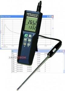サトテック 高精度データロガー温度計CENTER376 (白金測温抵抗体Pt100付)