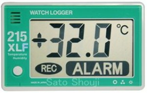 温湿度データロガー大型表示/大容量タイプKT-215XLF NFCウォッチロガー