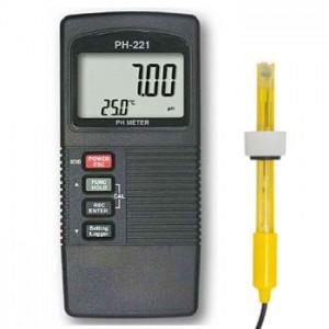 サトテック デジタルpH計PH-221(PC接続や外部電源に対応/pH電極つき)