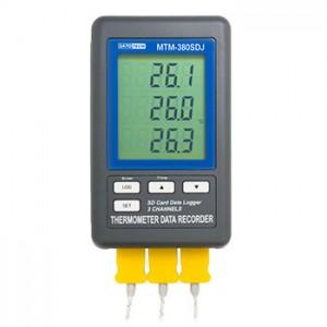 サトテック 3チャンネル温度計データロガー MTM-380SD J