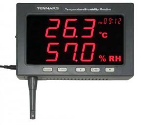 サトテック アラーム付大型デジタル温度・湿度モニターTM-185(新型コロナウイルス感染対策)