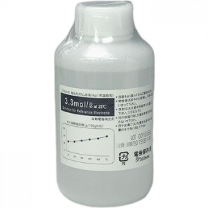 サトテック KCL溶液 500mL 塩化カリウム溶液 電極保存液  3.3mol/3mol