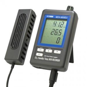 サトテック データロガーデジタル温湿度・CO2計 MCH-383SD J
